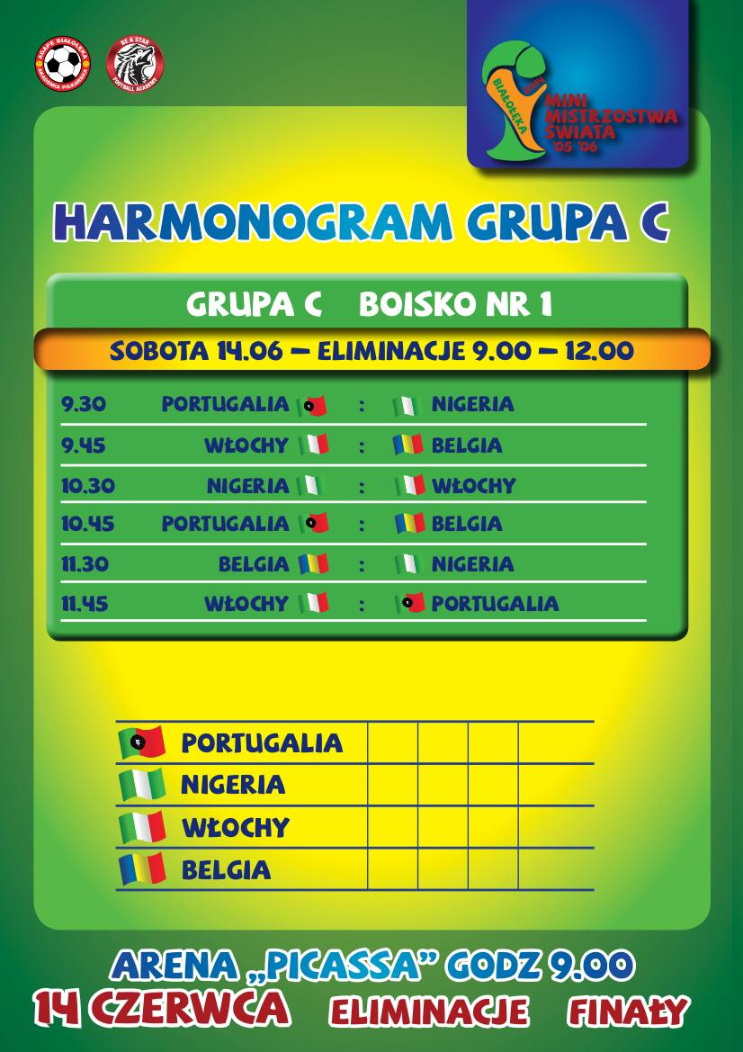 Harmonogram szczegółowy rozgrywek- GRUPA C